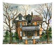 Stormy Winter Skies Tapestry