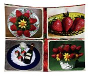 Strawberry Collage Tapestry