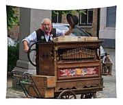 Street Entertainer In Bruges Belgium Tapestry