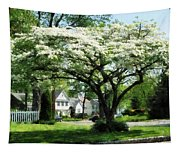 Street With Dogwood Tapestry