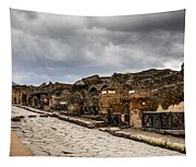 Streets Of Pompeii Tapestry
