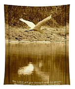 Strength And Peace Tapestry
