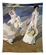 Strolling Along The Seashore Tapestry