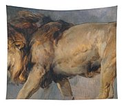 Study Of A Lion Tapestry