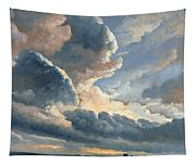 Study Of Clouds With A Sunset Near Rome Tapestry