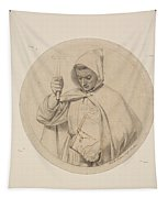 Study Of Monk Representing The Catholic Faith Tapestry