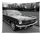 Stunning 1966 Mustang In Black And White Tapestry