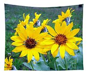 Stunning Wild Sunflowers Tapestry