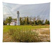 Sturgeon Point Ligthouse Lake Huron, Lower Peninsula, Mi Tapestry