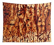 Subtle Atraction Coffee Painting Tapestry