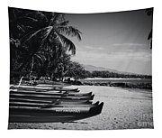 Sugar Beach Hawaiian Outrigger Canoes Kihei Maui Hawaii  Tapestry