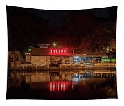 Suisan Fish Market At Night Tapestry