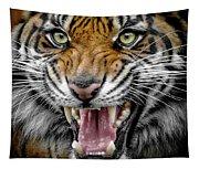 Sumatran Tiger Snarl Tapestry