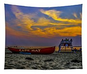 Summer Sunset In Cape May Nj Tapestry