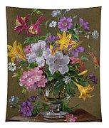 Summer Arrangement In A Glass Vase Tapestry