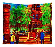 Summer At Mcgill University Tapestry