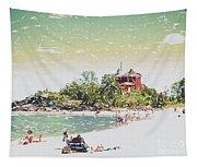 Summer Beach Sunshine Tapestry