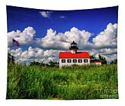 Summer Clouds At East Point Tapestry