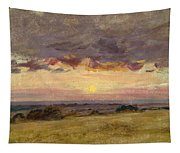 Summer Evening With Storm Clouds Tapestry