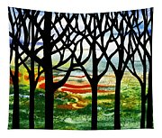 Summer Forest Abstract  Tapestry