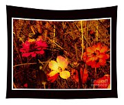 Summer Glow On Flowers Tapestry