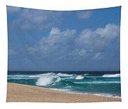 Summer In Hawaii - Banzai Pipeline Beach Tapestry