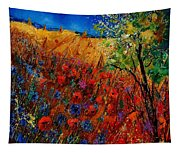 Summer Landscape With Poppies  Tapestry