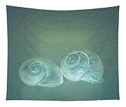 Two Seashell Reflections Tapestry