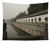 Summer Palace Pond With Ornate Balustrades Tapestry