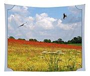 Summer Spectacular - Red Kites Over Poppy Fields Tapestry
