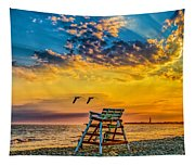 Summer Sunset On The Beach Tapestry