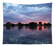Summer Sunset On Yakima River 4 Tapestry