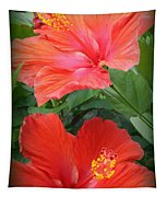 Summer Time Beauties - Hibiscus - Dora Sofia Caputo Tapestry