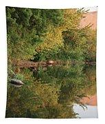 Summer Trees Sunset Tapestry