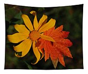 Sun Flower And Leaf Tapestry