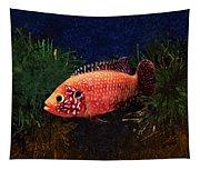 Sunburst Peacock Cichlid  Tapestry
