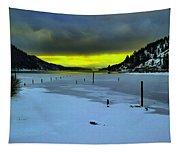Sundown On Lake Shore Tapestry