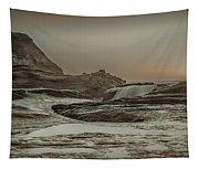 Sundown Over The Ocean Rocks Tapestry