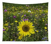 Sunflower And Wildflowers Tapestry