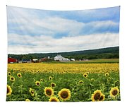 Sunflower Country Landscape  Tapestry
