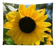 Sunflower With Bee Tapestry
