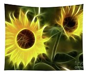 Sunflowers-5052-fractal Tapestry