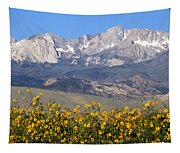 2a6742-sunflowers And Mount Humphreys  Tapestry