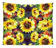 Sunflowers Impressionism Pattern Tapestry