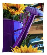 Complementary Sunflowers Tapestry