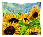 Sunflowers On Holiday Tapestry
