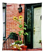 Sunflowers On Stoop Tapestry