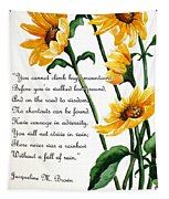 Sunflowers  Poem Tapestry
