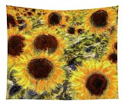 Sunflowers Summer Van Gogh Tapestry