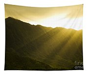 Sunlight Over Kualoa Ranch Tapestry